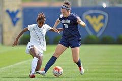 2015 NCAA kobiet piłka nożna - Villanova @ WVU Zdjęcie Stock