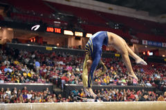 2015 NCAA Ladies Gymnastics - WVU Stock Photo