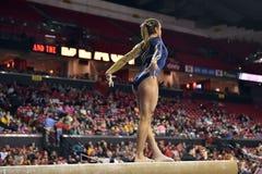 2015 NCAA Ladies Gymnastics - WVU Stock Images