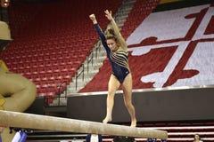 2015 NCAA Ladies Gymnastics - WVU Royalty Free Stock Images