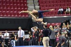 2015 NCAA Ladies Gymnastics - WVU Royalty Free Stock Image