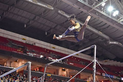 2015 NCAA Ladies Gymnastics - WVU Stock Image