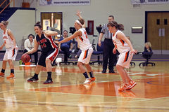 Ncaa-Mädchen-Basketball Lizenzfreie Stockfotos
