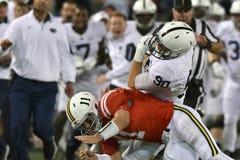 2015 NCAA Voetbal - Penn State versus maryland Royalty-vrije Stock Afbeeldingen