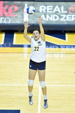 NCAA Volleyball 2014 - Baylor - WVU Royalty Free Stock Photography