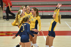 2015 NCAA Volleyball - Kent State en Morgan State Royalty-vrije Stock Foto's
