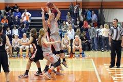 NCAA Women's Basketball. Carroll University, Waukesha, WI, USA, Jan 17, 2015. A Women's NCAA Conference Midwest DIV III basketball game between royalty free stock photos