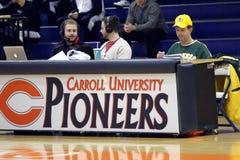 NCAA Women's Basketball. Carroll University, Waukesha, WI, USA, Jan 3, 2015, NCAA, Women's Midwest Conference Basketball DIV lll, versus Illinois College Royalty Free Stock Photo