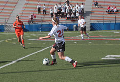 NCAA Women's Soccer Royalty Free Stock Photo