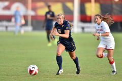 2015 NCAA Women's Soccer - WVU-Maryland Royalty Free Stock Images