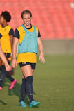 2015 NCAA Women's Soccer - WVU-Maryland Royalty Free Stock Photos