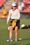 2015 NCAA Women's Soccer - WVU-Maryland Royalty Free Stock Photography