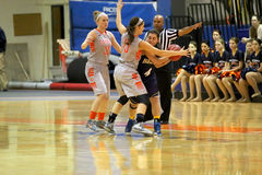 NCAA Women's Basketball Royalty Free Stock Photography