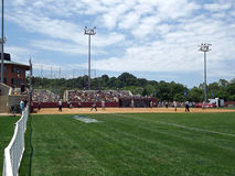 NCCA podziału 2 softballa mecz finałowy Zdjęcie Royalty Free