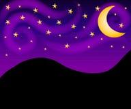 Nächtlicher Himmel Stars Hintergrund Lizenzfreie Stockfotos