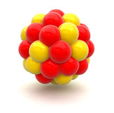 Núcleo atómico Imagenes de archivo