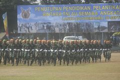 NCO INAUGURATION INDONESIAN AIR FORCE Royalty Free Stock Images