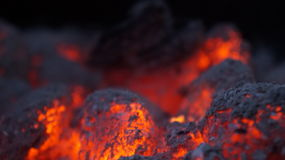 Ncoal carbon hot Royalty Free Stock Images