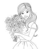 NColoring the Beautiful Princessnn Stock Image