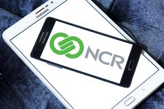 NCR Korporation logo royaltyfria foton