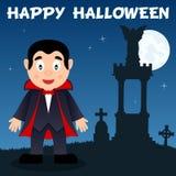Nécropole et Dracula de Halloween Photographie stock libre de droits