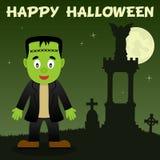 Nécropole et Frankenstein de Halloween Photo libre de droits
