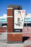NCSU Dennis Byrd retired Number tribute. A brick tribute to NC State's Dennis Byrd outside Carter-Finley Stadium Royalty Free Stock Images