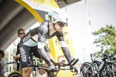 102nd环法自行车赛-时间试验-第一阶段 免版税图库摄影