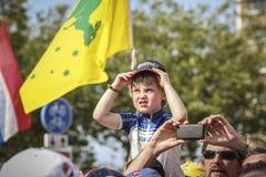 102nd γύρος de Γαλλία - χρονική δοκιμή - πρώτη φάση Στοκ Φωτογραφία
