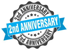 2nd anniversary stamp. Sign. seal Stock Photography