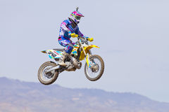 Dirt Bike Jumping Royalty Free Stock Photo