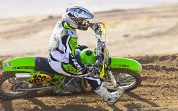Dirt Bike Turning Stock Images