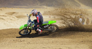Dirt Bike Roosting Dirt Royalty Free Stock Image