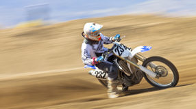 Dirt Bike Racer Stock Photography