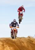Honda Racer Jumping Royalty Free Stock Images