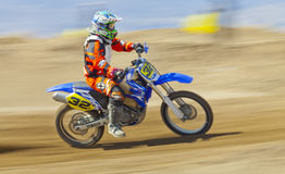 Sandbox Racer Panning Stock Image