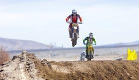 Sandbox Racer Jumping Stock Photos