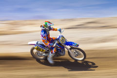 Fast Dirt Biker Racer Stock Photo