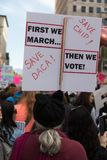2nd Annual Women`s March - save daca women`s march 2018 Royalty Free Stock Image