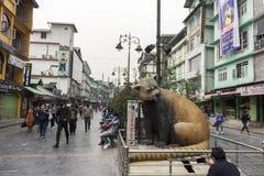 2nd April, 2021, Gangtok M G Marg, Sikkim, India: Few travelers enjoying roaming at the M G Marg Gangtok, Sikkim