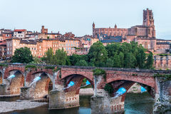 22nd of August 1944 Bridge in Albi, France Stock Photography