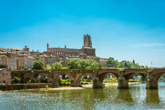 22nd of August 1944 Bridge in Albi, France Royalty Free Stock Image