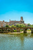 22nd of August 1944 Bridge in Albi, France Stock Photos