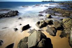 ND de la playa de Mooloolaba Fotos de archivo libres de regalías
