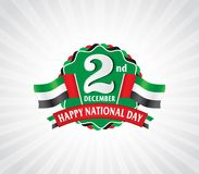 2nd December Logo with UAE Flag Stock Photography