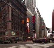 42nd e Broadway Foto de Stock Royalty Free