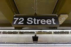 72nd estação de metro da rua Fotos de Stock Royalty Free