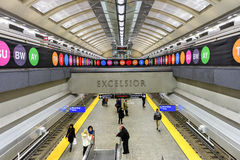 72nd estação de metro da rua Foto de Stock