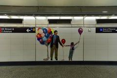72nd estação de metro da rua Imagens de Stock Royalty Free