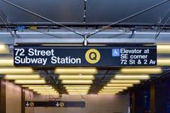 72nd estação de metro da rua Fotos de Stock